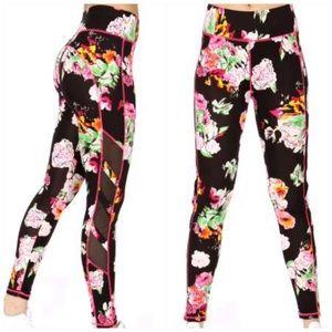 Pants - Quad side mesh panels active leggings w/ pockets